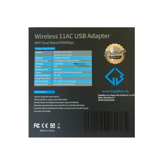 Gigablue Wireless 11ac USB Adapter