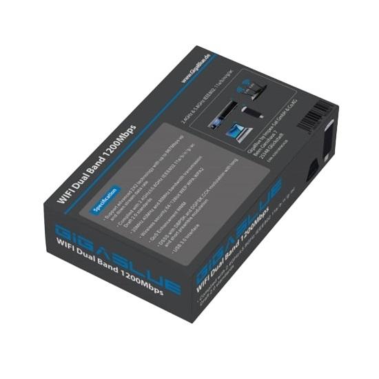 GigaBlue USB 3.0 WiFi 1200Mbps Adapter