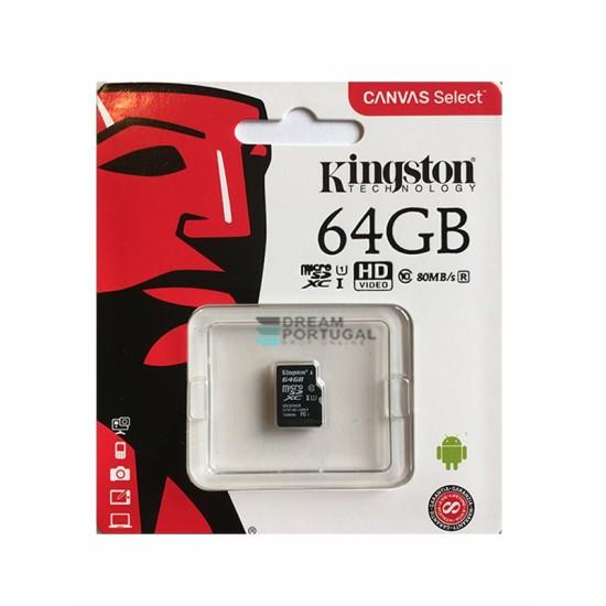 Kingston Micro SDXC 64GB Flash Card