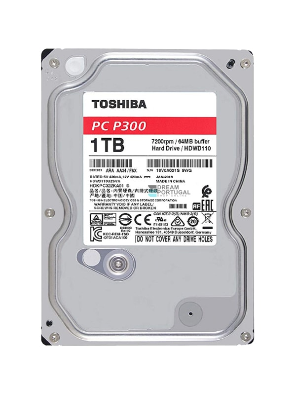 Toshiba P300 1TB Hard Drive