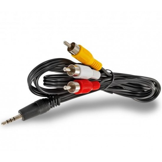 Jack 3,5mm to 3 RCA Cable