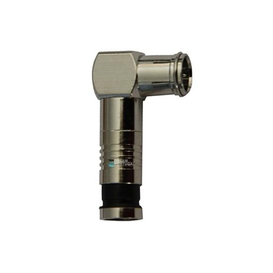 Quick Elbowed Compression RG6 Connector