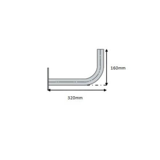 Zinc Plated Wall/Mast Bracket 32mm
